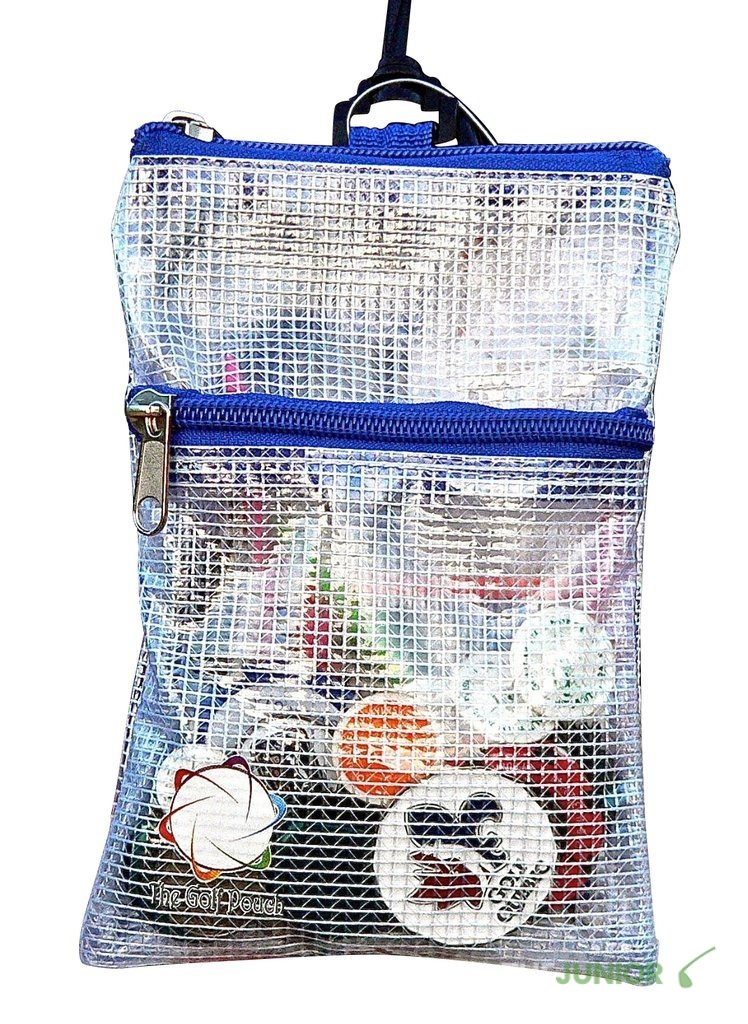 the golf pouch see-through vinyl golf bag with tees and markers