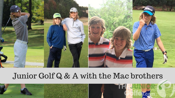 Junior Golf Q & A with the Mac brothers