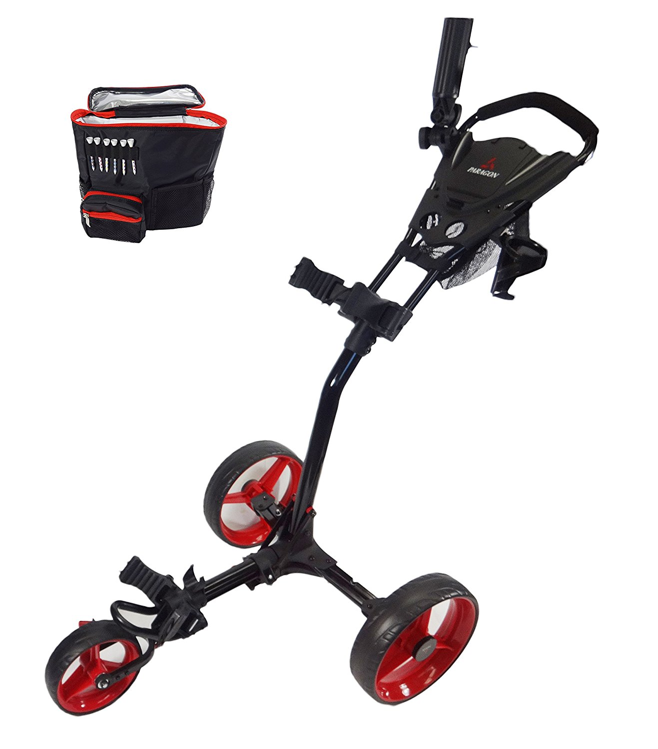 paragon 3-wheelie golf push cart, best golf push cart for juniors