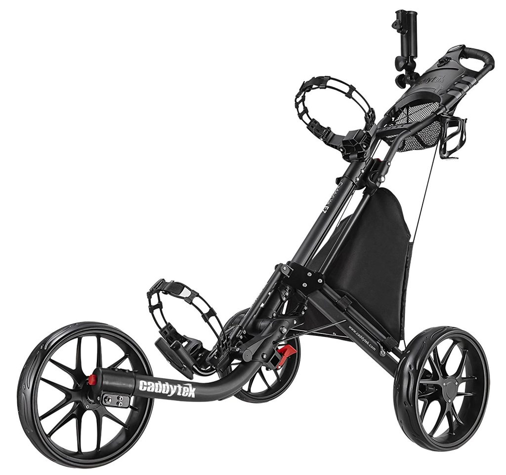 caddy tek ez fold, best golf push cart for junior golfers