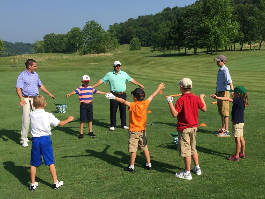 junior golf stretches for golf tournament warm up