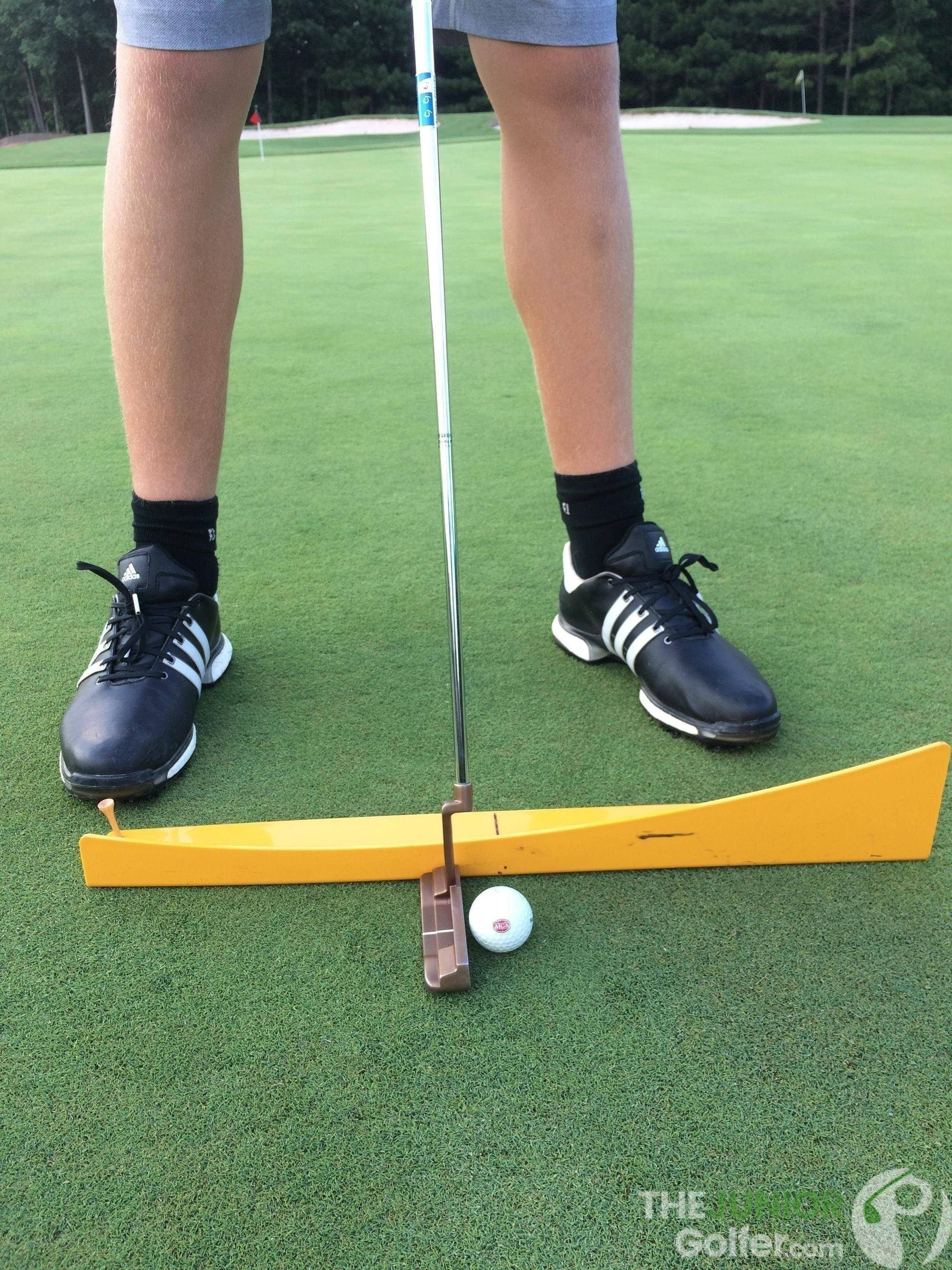 junior golf putting aid momentus putting track