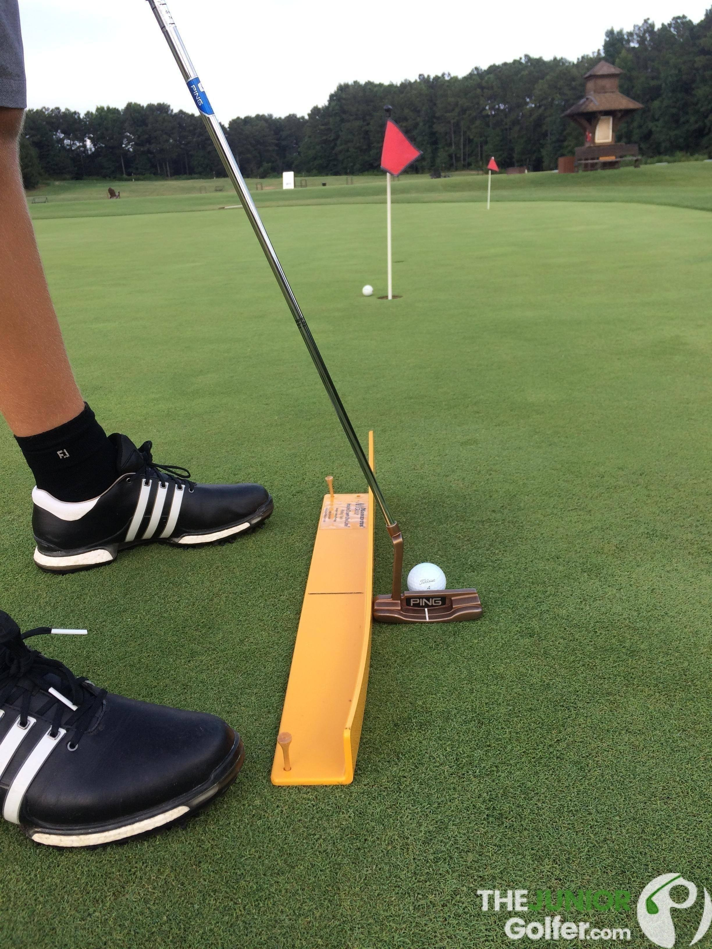 momentus putting track aid junior golf