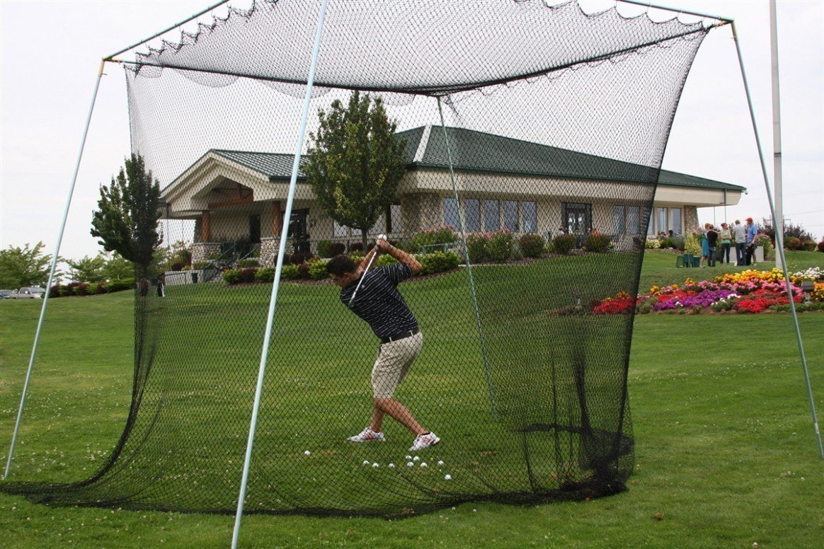 DIY home golf practice net