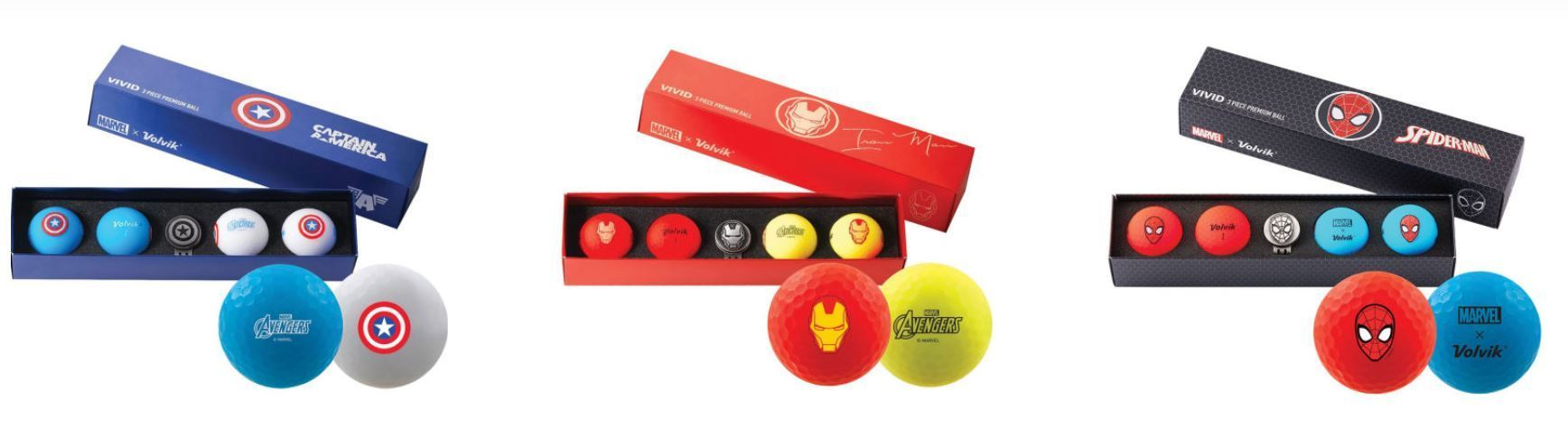 Volvik Marvel kids golf balls