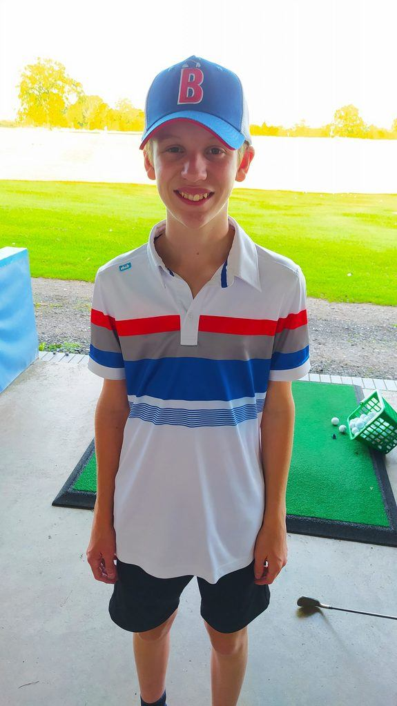 junior golfer with autism