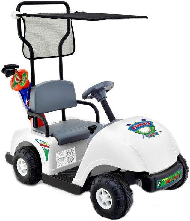 NLP Junior Golf Cart 6v White